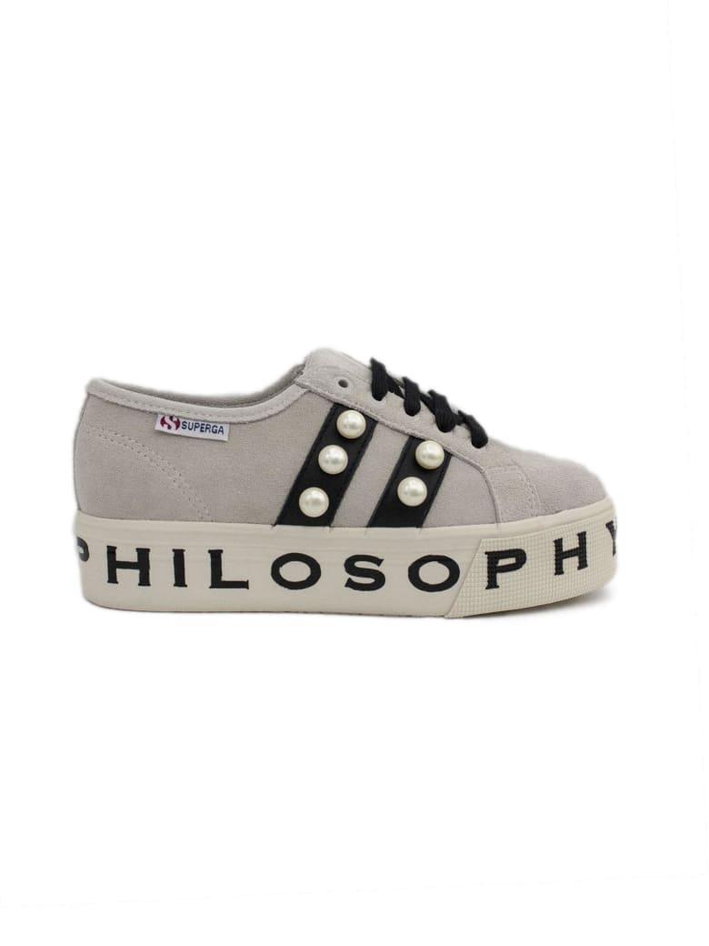in vendita 3c50f 3d314 Philosophy di Lorenzo Serafini Superga Sneaker By Philosophy In Ivory Suede.
