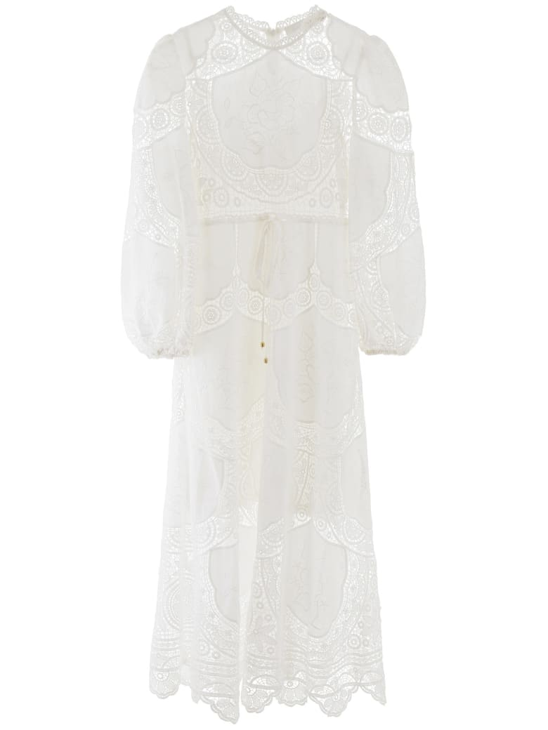 Zimmermann Lace Long Dress - Ivory