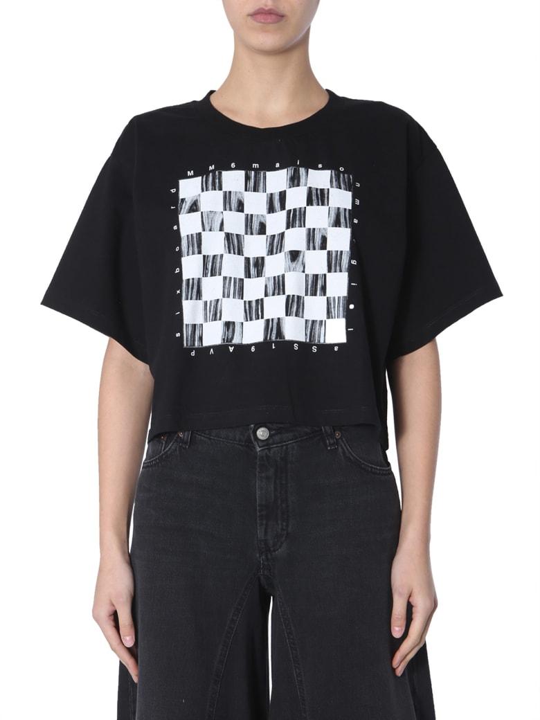 MM6 Maison Margiela Cropped T-shirt - NERO