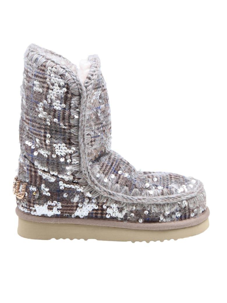 Mou Eskimo In Sneakers In Paillettes - Tartan