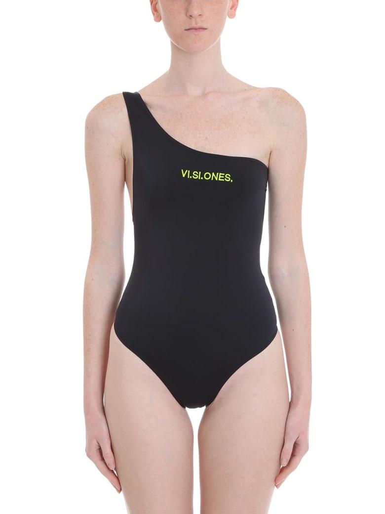 Marcelo Burlon Visiones Beachwear In Black Polyamide - black