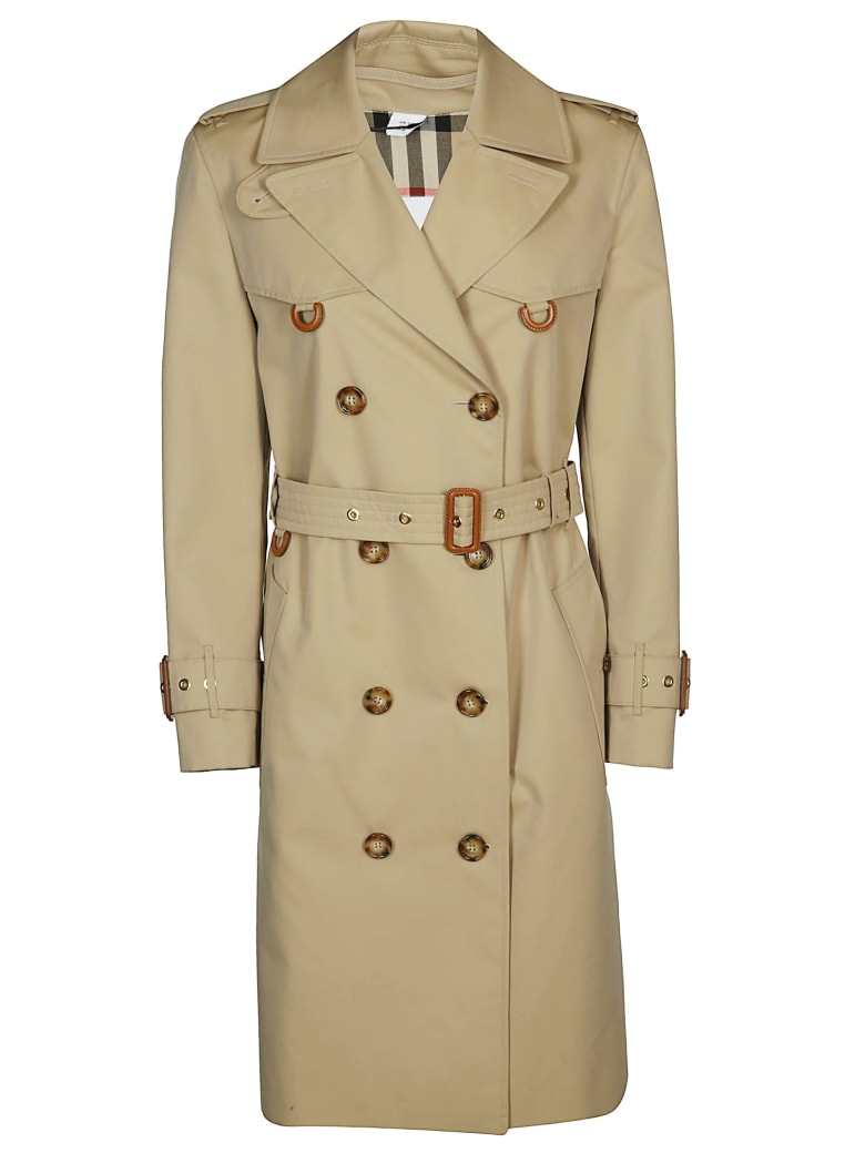 Burberry Double Breasted Trench Coat - HONEY