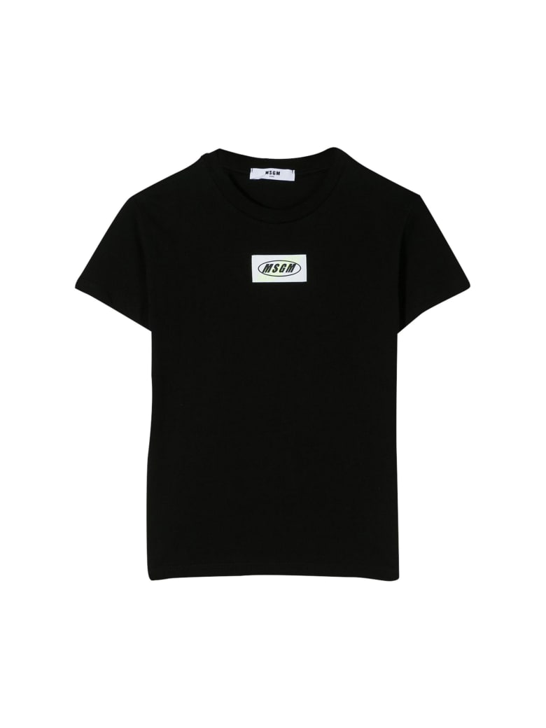 MSGM Kids T-shirt With Application - Nero