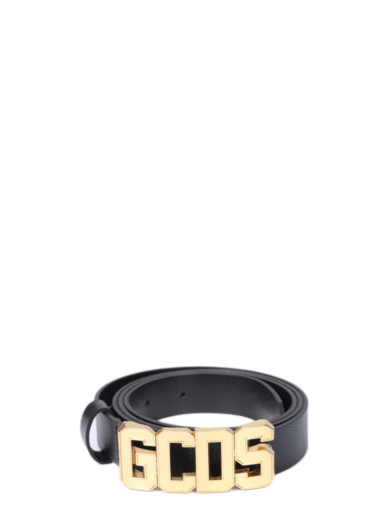 GCDS Belt - Nero/oro