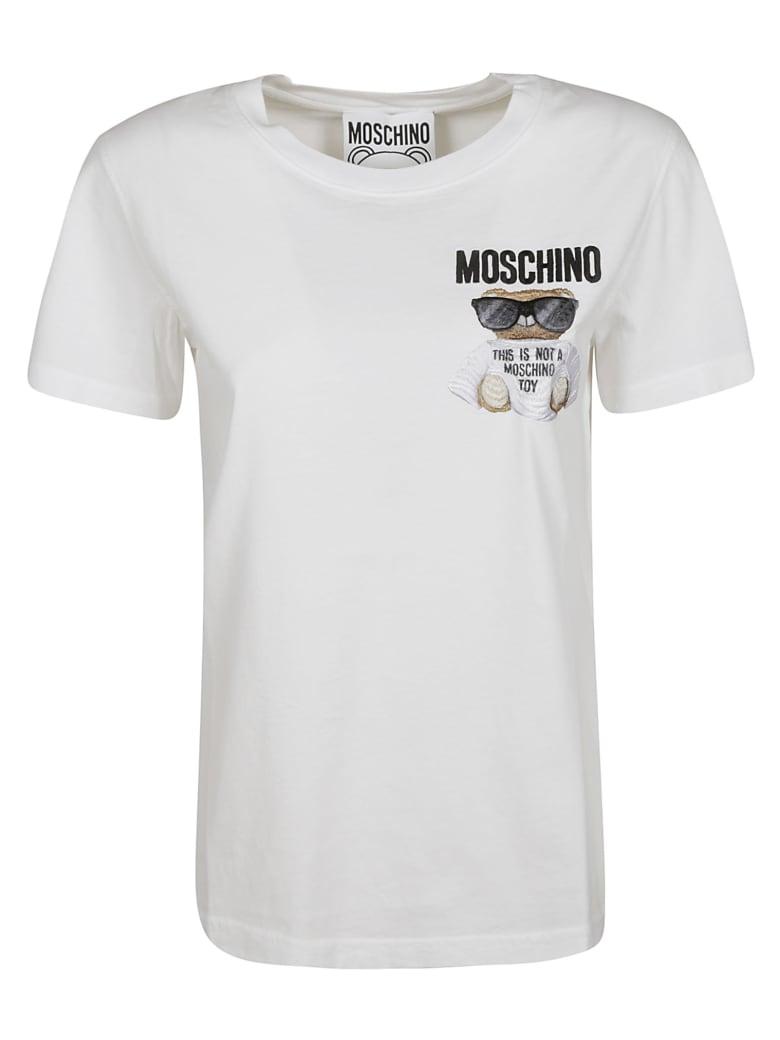 Moschino Bear Logo Print T-shirt - White