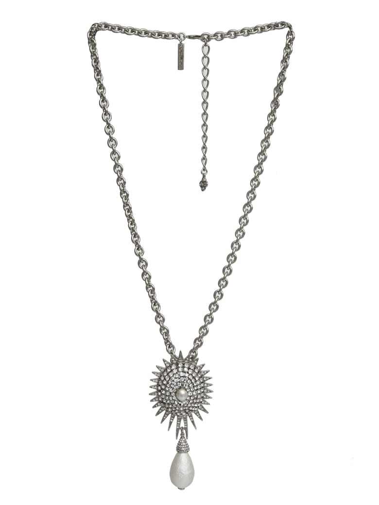 Oscar de la Renta Necklace - Silver