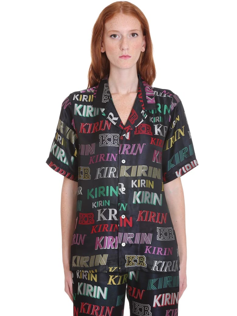 Kirin Shirt In Black Cotton - black
