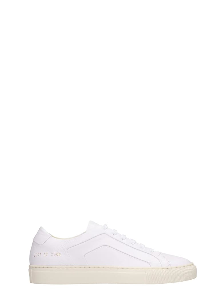 Common Projects Achilles  Sneakers In White Leather - white