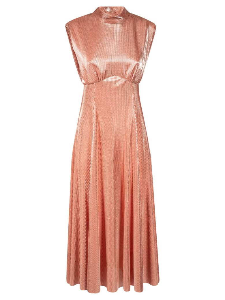 MSGM Sleeveless Long Dress - Peach