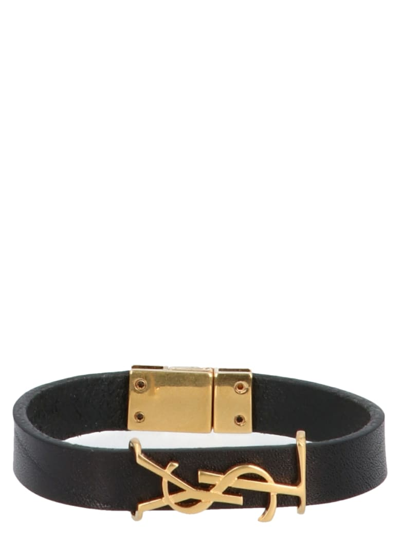 Saint Laurent 'ysl' Braelet - Black