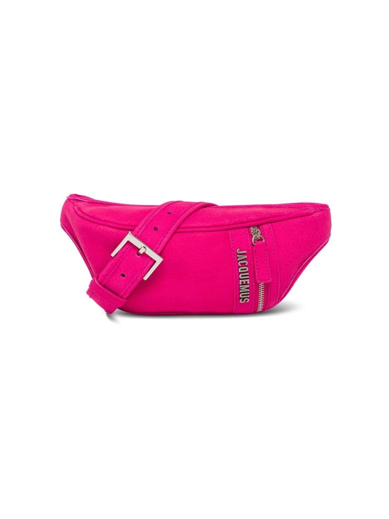 Jacquemus Le Banane Leather Belt Bag With Logo - Pink