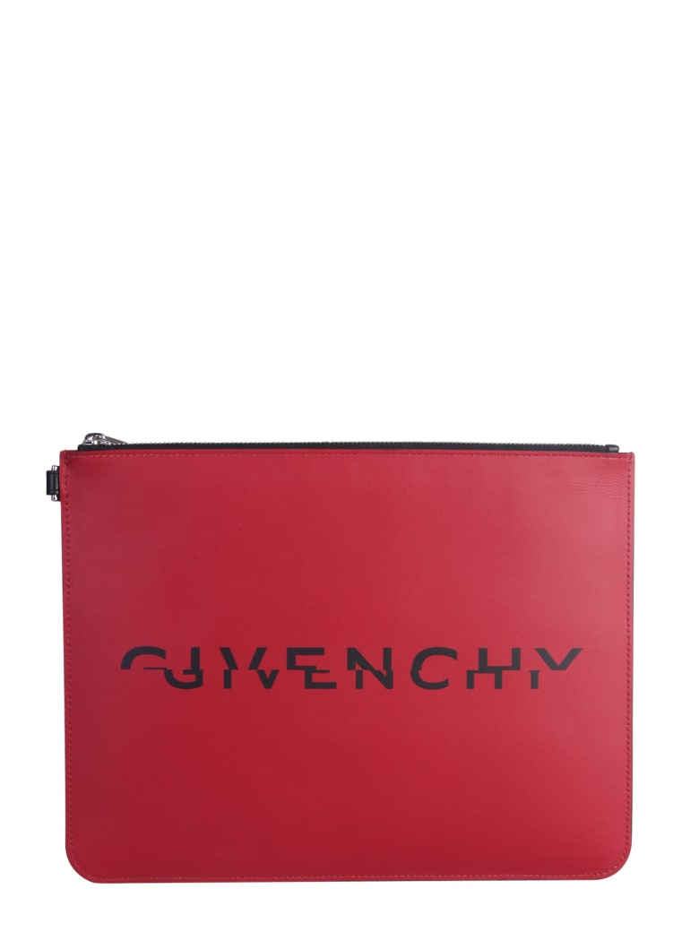 Givenchy Pouch With Logo - ROSSO