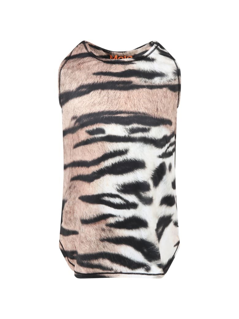 Molo Multicolor ''oriana'' Tank Top For Girl - Brown