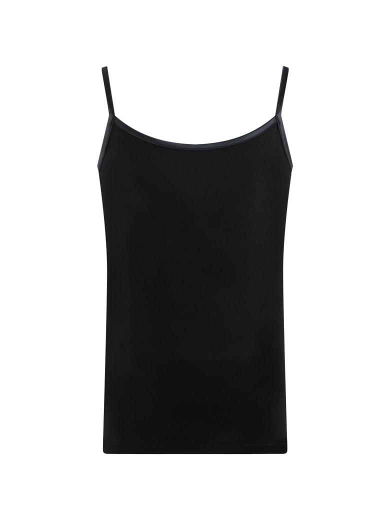 La Perla Black Tank Top For Girl - Black