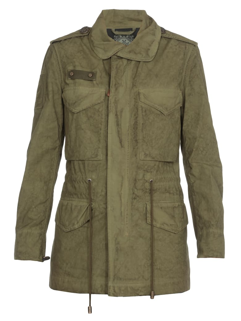 Mr & Mrs Italy Embroidery Jacket Parachute - ARMY