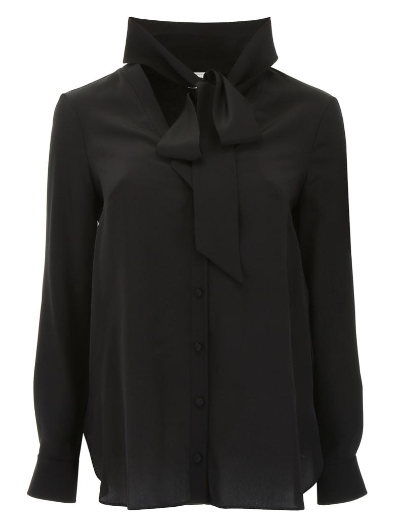 Alexander McQueen Silk Shirt - BLACK (Black)