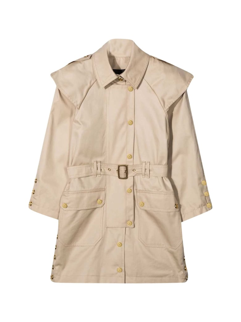 Balmain Beige Trench Coat Teen - Beige