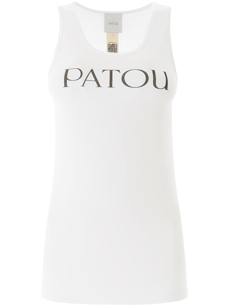 Patou Tank Top With Logo Print - WHITE (White)