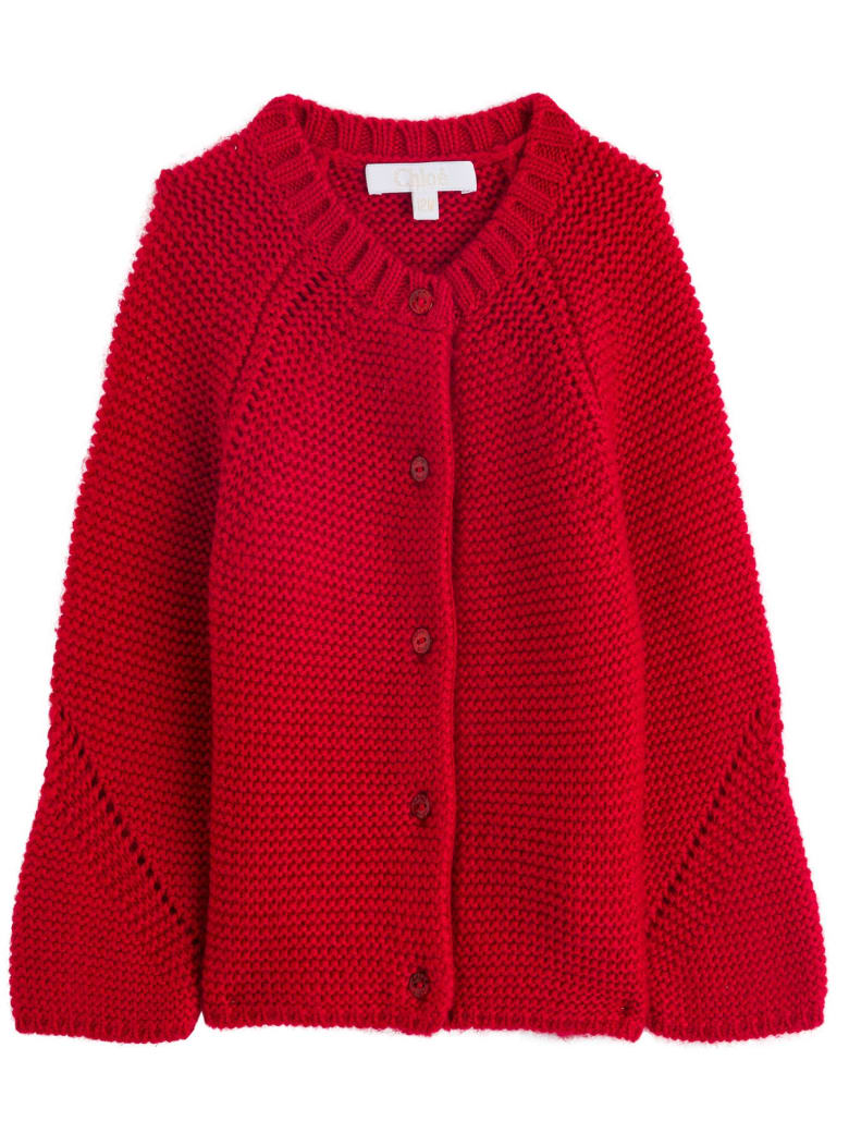 Chloé Knitted Cardigan - Bordeaux