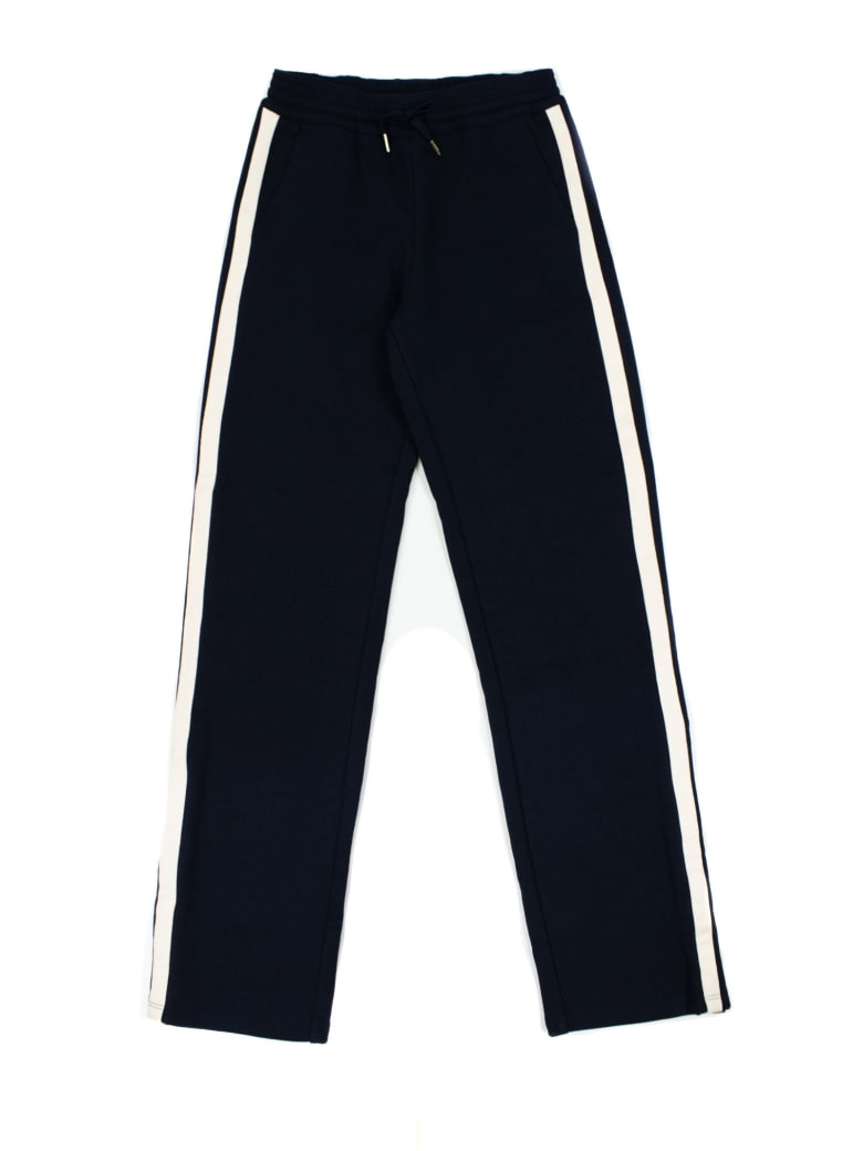 Chloé Navy Blue Cotton-blend Track Pants - Blu