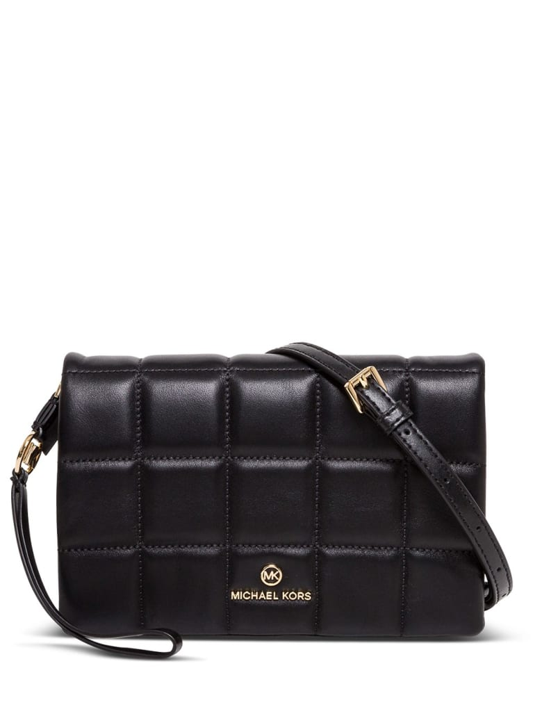 Michael Kors Jet Set Charm Medium Crossbody Bag In Quilted Leather - Nero