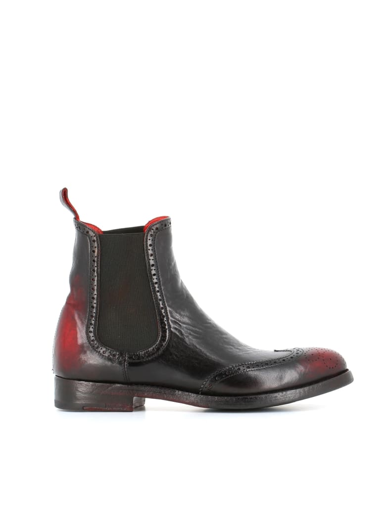 "Alberto Fasciani Brogue Chelsea ""windy 27030"" - Black/red"