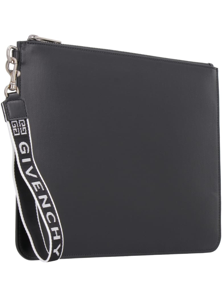 Givenchy Pouch With Logo Detail Wristlet - black