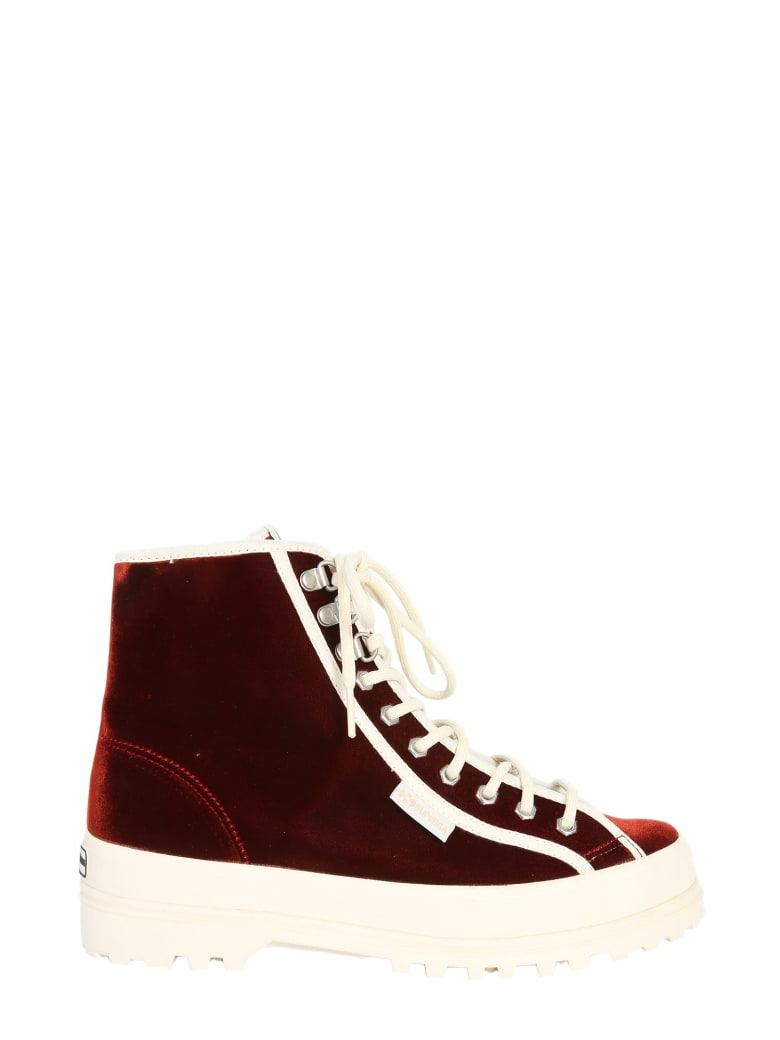 Superga High Top Alpina Sneakers - BORDEAUX