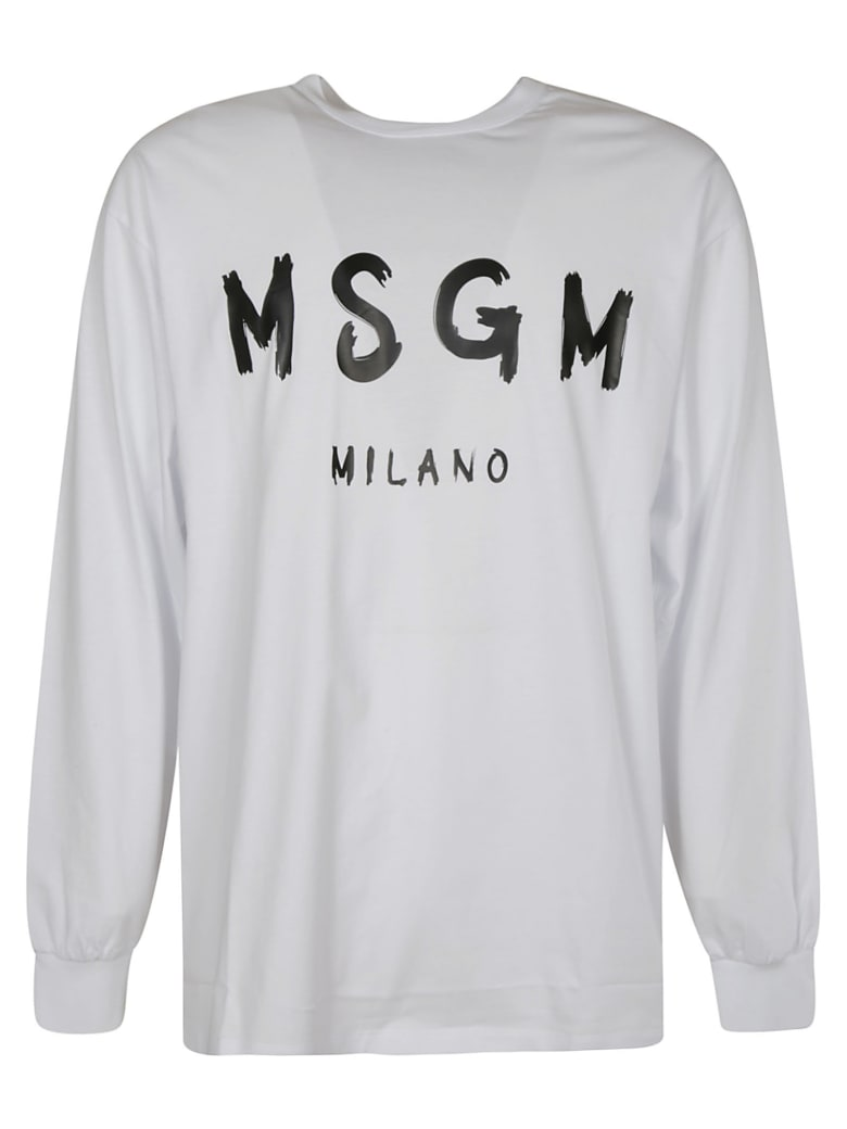 MSGM Milano Long-sleeved T-shirt - White