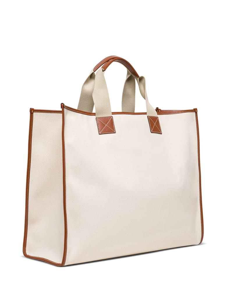 Etro Globe Trotter 1968 Tote Bag In Canavs - White
