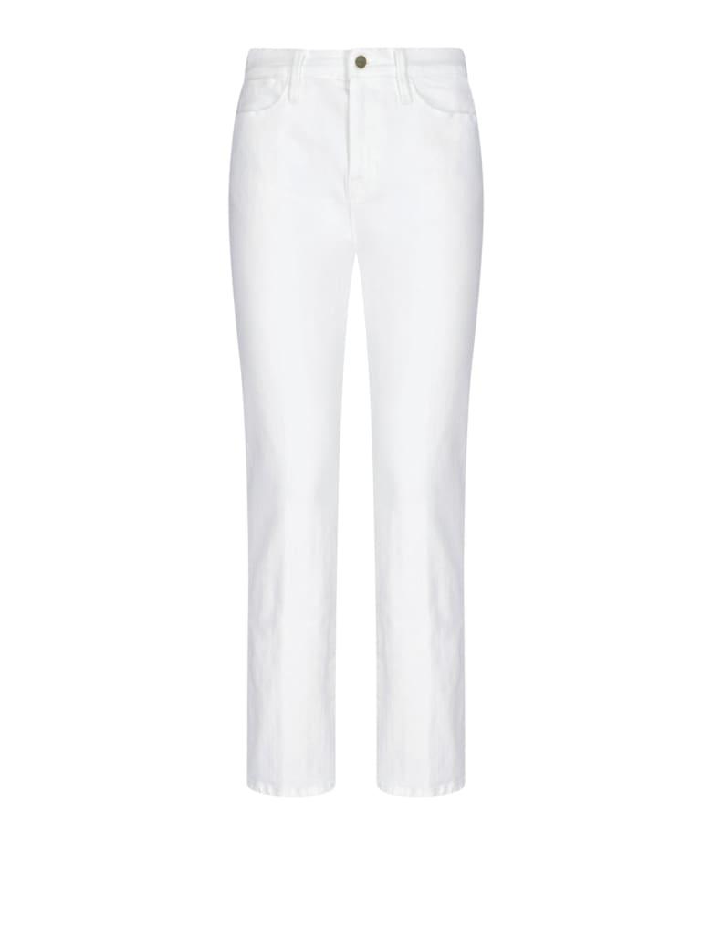 Frame High Waist Denim Pants - White