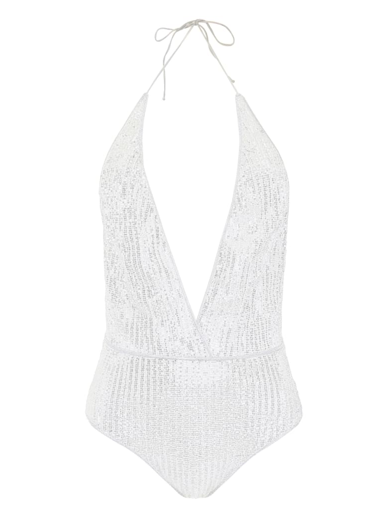 Oseree Micro Sequins Swimsuit - SILVER (Silver)