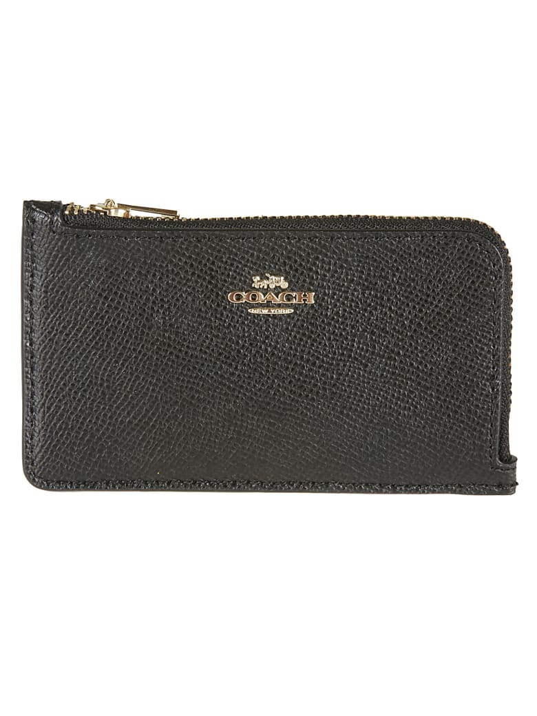 Coach Zip-around Card Holder - Black