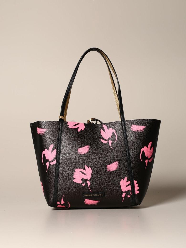 Armani Collezioni Armani Exchange Tote Bags Armani Exchange Reversible Shopping Bag - black