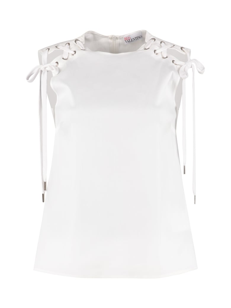 RED Valentino Poplin Blouse - White