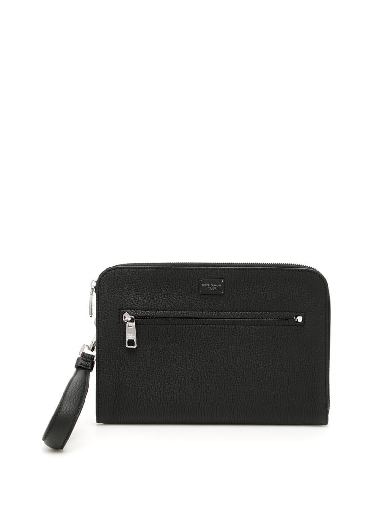 Dolce & Gabbana Grain Calfskin Pouch - NERO (Black)