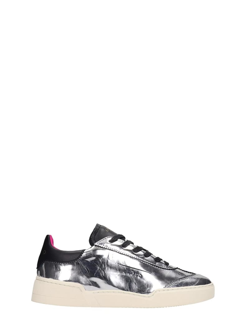 GHOUD Lob 01 Laminated Silver Leather Sneakers - silver
