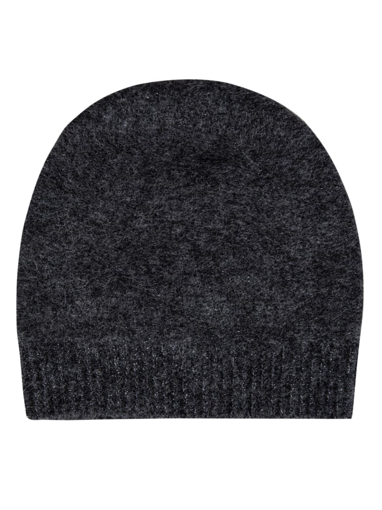 Fabiana Filippi Ribbed Beanie - Black