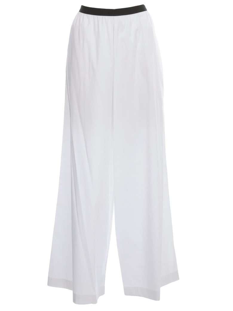 Antonio Marras Colvin Pants Elastic Waist Flared - Bianco