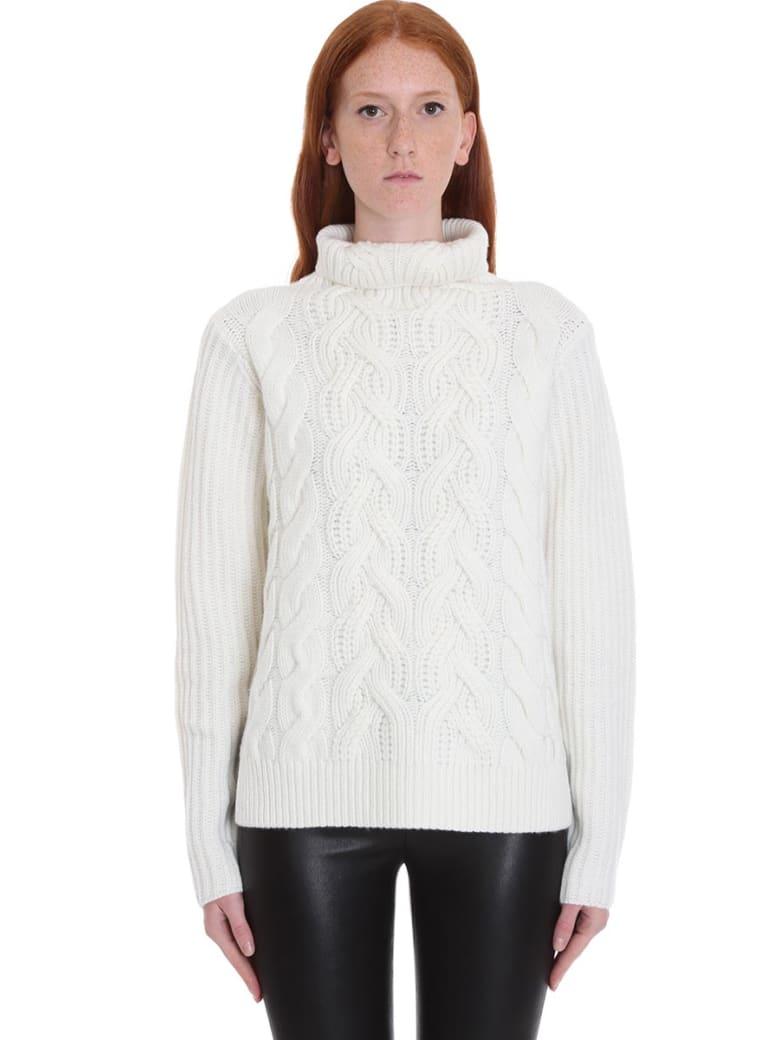 Helmut Lang Knitwear In White Wool - white