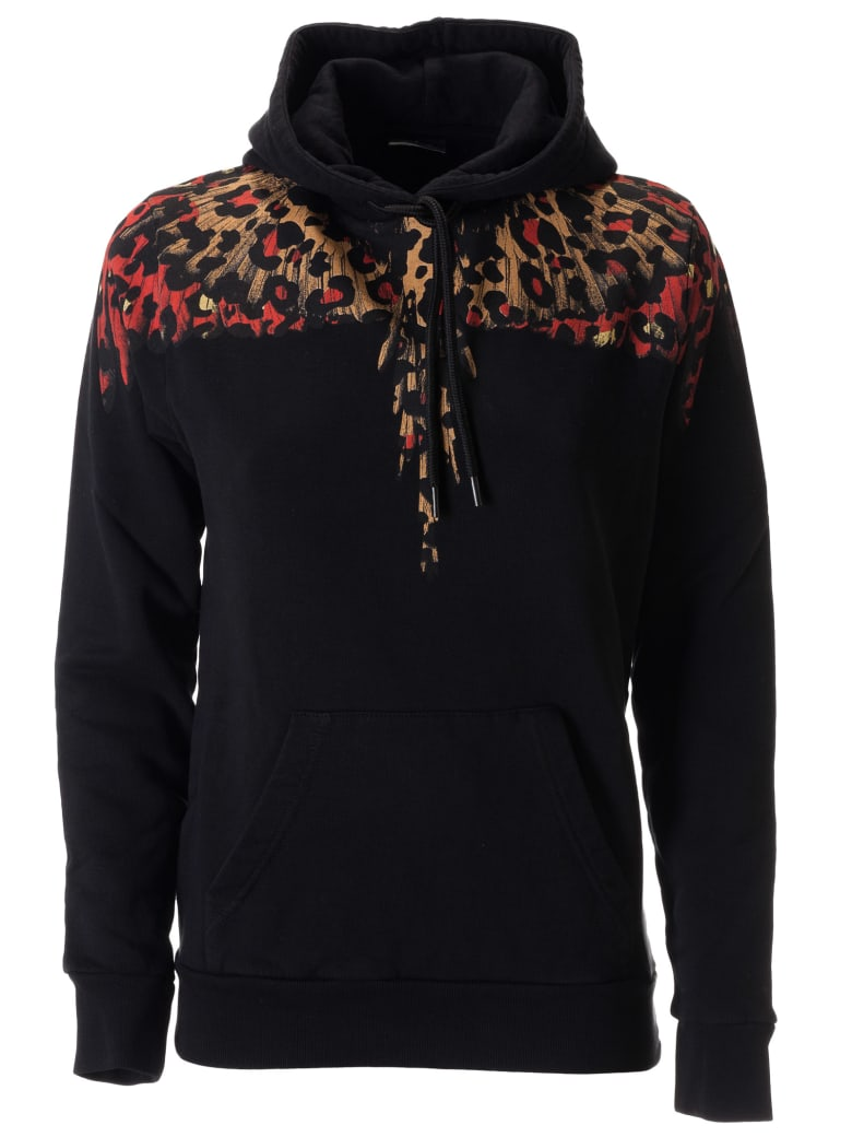 Marcelo Burlon Leopard Wings Hoodie - Black/multicolor