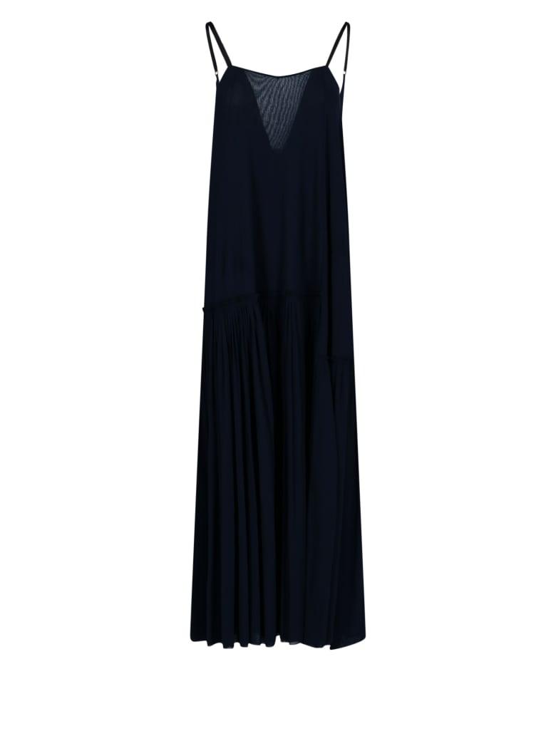 Jil Sander Draped Long Dress - Blue