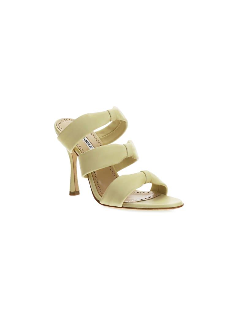 Manolo Blahnik Gyrica Sandals - Light yellow