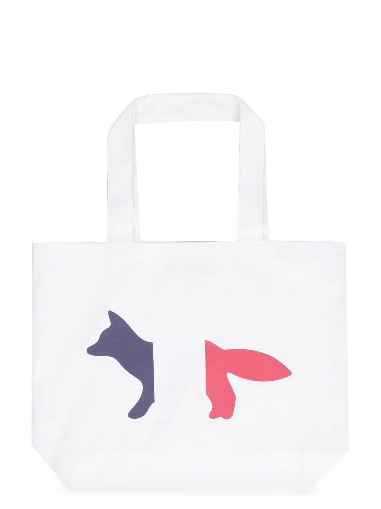 Maison Kitsuné Canvas Tote Bag - White