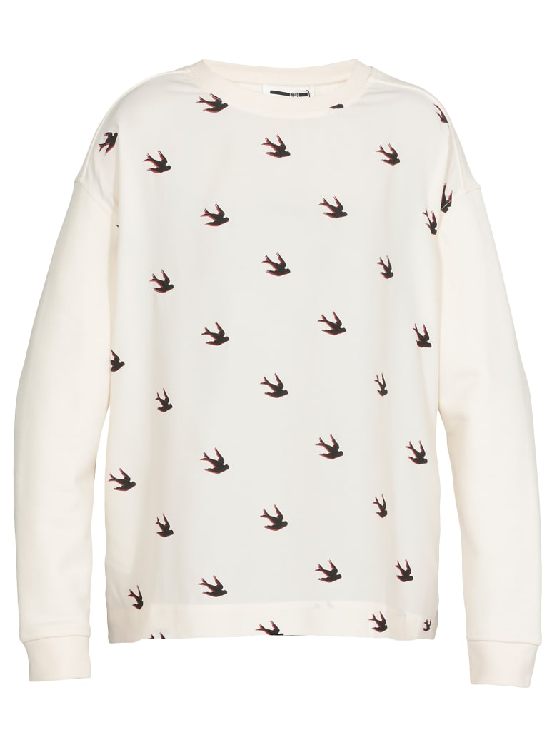 McQ Alexander McQueen Swallow Swarm Sweater - OYSTER