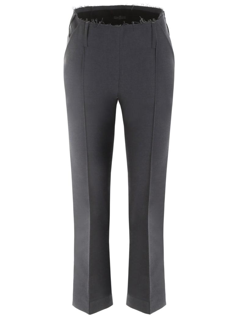 Rokh Cropped Trousers - DARK GREY (Grey)