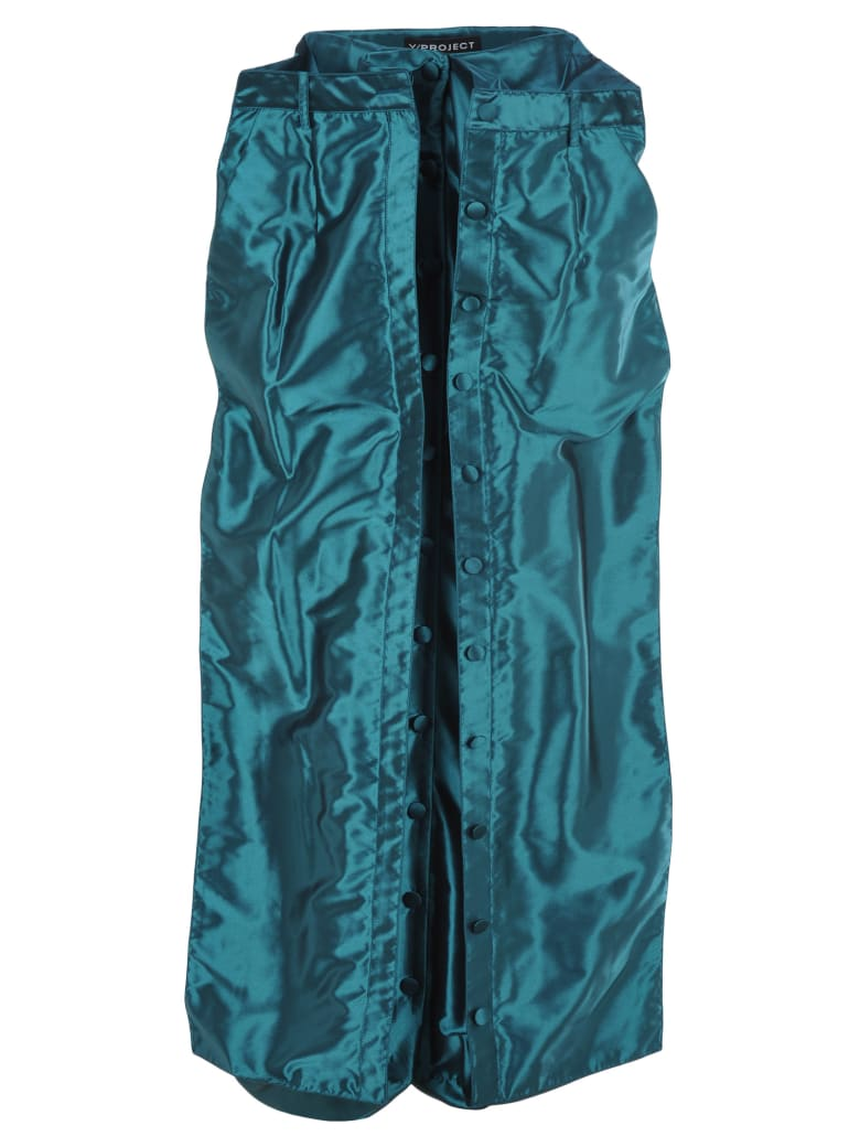 Y/Project Layered Skirt - TURQUOISE