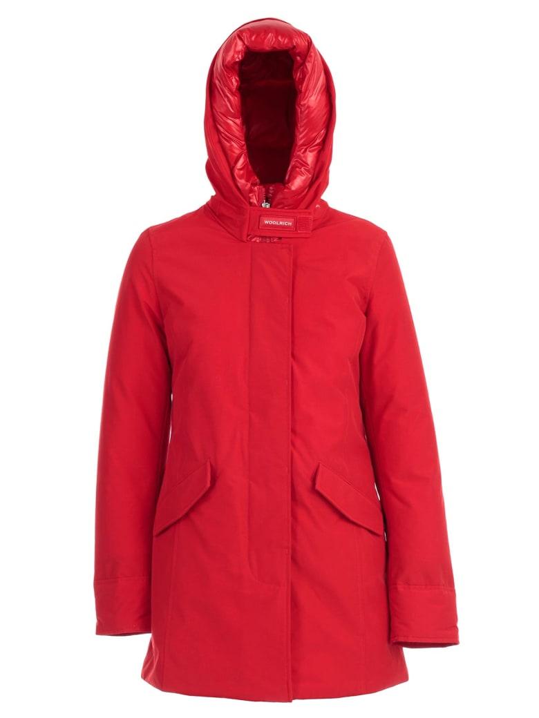 Woolrich Padded Jacket W/hood - Msc Marine Scarlet