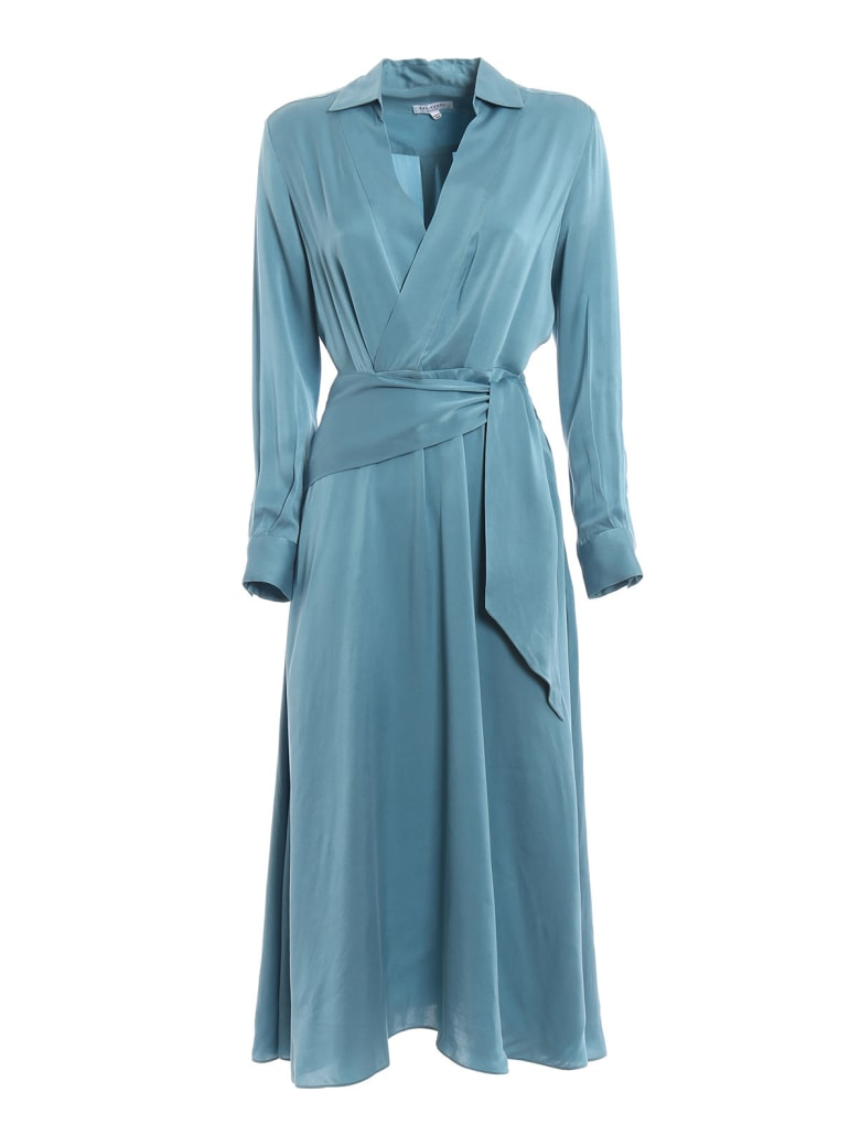 Equipment Vivienne Dress - Bleu Fume