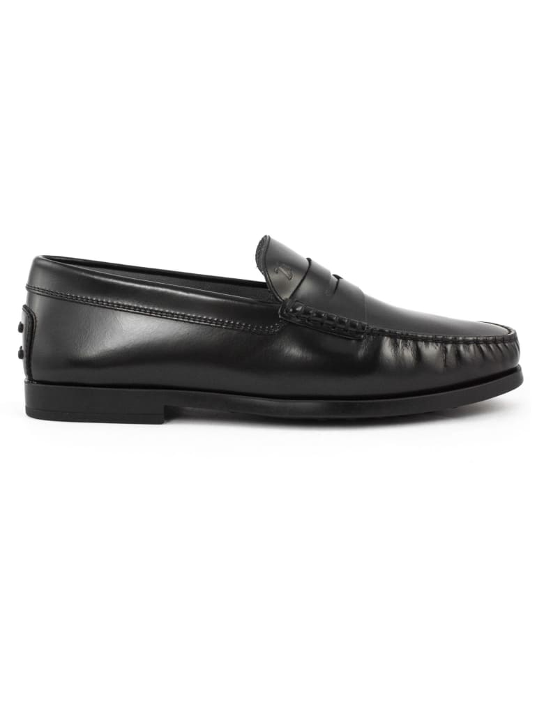 Tod's Black Leather Loafers - Nero